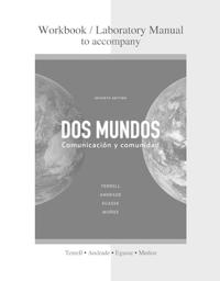 Cuaderno de Actividades DOS Mundos: Communicacion y Comunidad