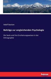 Beitrage Zur Vergleichenden Psychologie