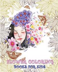Flower Coloring Books for Kids: Color Me Happy