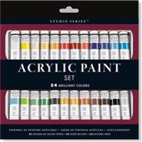 Studio Series Acrylic Paint Set (24 Colors): A Complete Palette of Acrylic Paints. Perfect for Artists, Students, and Crafters!