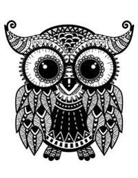 Take a Journey Owl: Blank Lined Diary Journal Book Notebook - 8.5 X 11, 120 Pages, Zentangle Cover & Interior Image Suitable for Coloring!