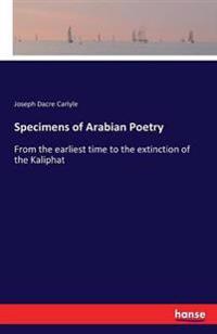 Specimens of Arabian Poetry