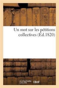 Un Mot Sur Les P�titions Collectives