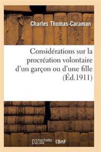 Considerations Sur La Procreation Volontaire D'Un Garcon Ou D'Une Fille Ned