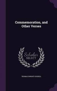 Commemoration, and Other Verses