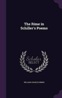 The Rime in Schiller's Poems
