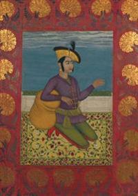 Carnet Blanc, Prince Indien a Genoux, Miniature 18e