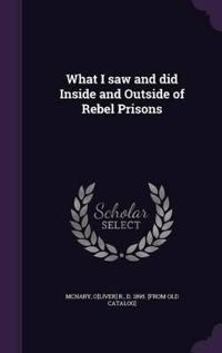 What I Saw and Did Inside and Outside of Rebel Prisons