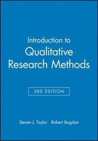 Introduction to Qualitative Research Methods, 3rd Edition