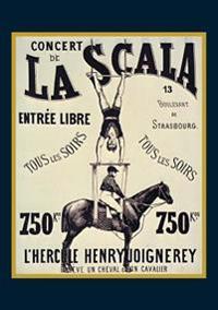 "Carnet Blanc, Affiche La Scala ""l'hercule"""
