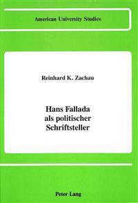 Hans Fallada als Politischer Schriftsteller