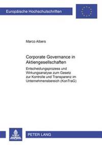 Corporate Governance in Aktiengesellschaften