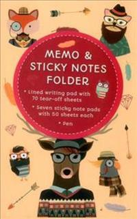 Memo & Sticky Notes Folder Hipster Animals