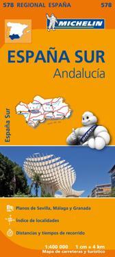 Andalucia Michelin 578 delkarta Spanien - 1:400000