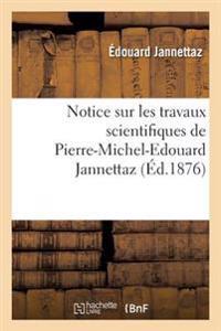 Notice Sur Les Travaux Scientifiques