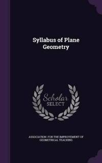 Syllabus of Plane Geometry