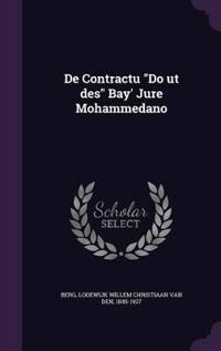 de Contractu Do UT Des Bay' Jure Mohammedano