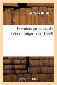Premiers Principes de L'Economique