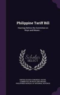 Philippine Tariff Bill
