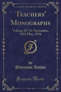 Teachers' Monographs