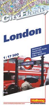 London City Flash Hallwag stadskarta : 1:17500