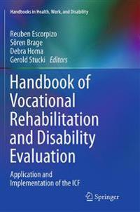 Handbook of Vocational Rehabilitation and Disability Evaluation