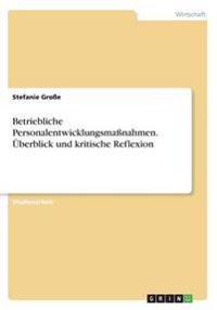 Betriebliche Personalentwicklungsmanahmen. Uberblick Und Kritische Reflexion