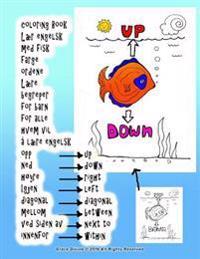 Coloring Book Laer Engelsk Med Fisk Farge Ordene Laere Begreper for Barn for Alle Hvem Vil a Laere Engelsk Opp Ned Hoyre Igjen Diagonal Mellom Ved Sid