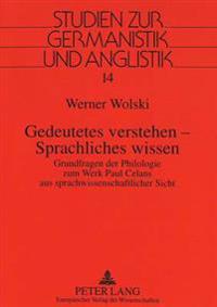 Gedeutetes Verstehen - Sprachliches Wissen