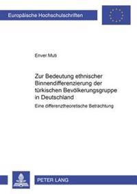 Zur Bedeutung Ethnischer Binnendifferenzierung Der Tuerkischen Bevoelkerungsgruppe in Deutschland: Eine Differenztheoretische Betrachtung