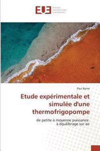 Etude expérimentale et simulée d'une thermofrigopompe