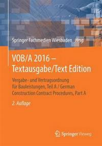 Vergabe- Und Vertragsordnung Für Bauleistungen / German Construction Contract Procedures
