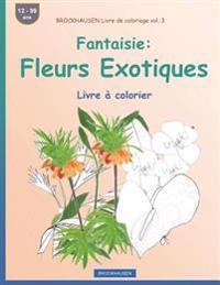 Brockhausen Livre de Coloriage Vol. 3 - Fantaisie: Fleurs Exotiques: Livre À Colorier