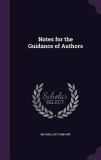 Notes for the Guidance of Authors