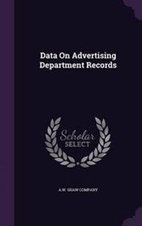 Data on Advertising Department Records
