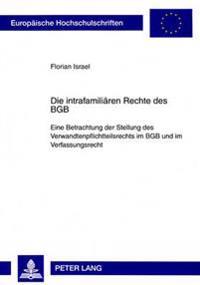 Die Intrafamiliaeren Rechte Des Bgb: Eine Betrachtung Der Stellung Des Verwandtenpflichtteilsrechts Im Bgb Und Im Verfassungsrecht