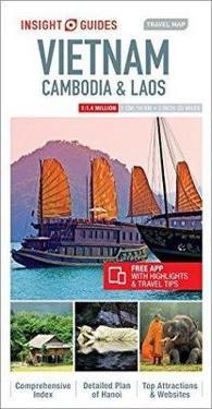 Insight Guides Travel Map Vietnam Cambodia Laos Insight