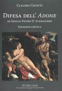 Difesa Dell'  adone  Di Giovan Pietro d'Alessandro