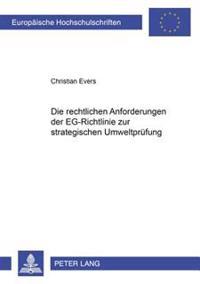 Die Rechtlichen Anforderungen Der Eg-Richtlinie Zur Strategischen Umweltpruefung