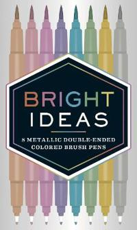 Bright Ideas Metallic Double-ended Colored Brush Pens