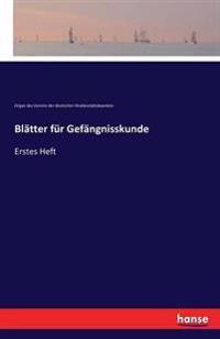 Blatter Fur Gefangnisskunde