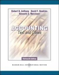 Accounting: texts and cases (intl ed)