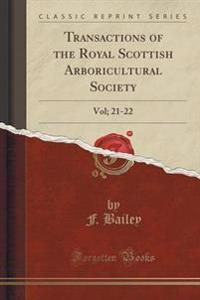 Transactions of the Royal Scottish Arboricultural Society