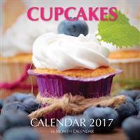 Cupcakes Calendar 2017: 16 Month Calendar