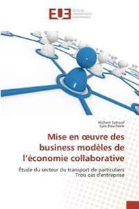 Mise en oeuvre des business modèles de l'économie collaborative
