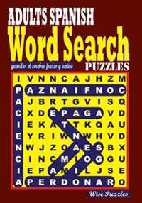 Adults Spanish Word Search Puzzles