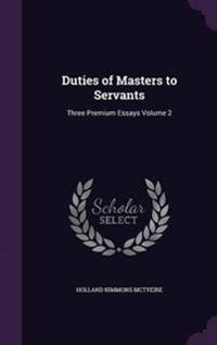 Duties of Masters to Servants