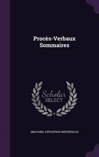Proces-Verbaux Sommaires