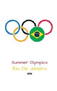 Summer Olympics Rio de Janeiro 2016: White Cover Rio Olympic 2016 Journal, Notebook, Scrapbook, Keepsake, Memory Book, Jotter to Write or Draw In, Men