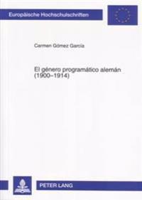 El Gaenero Programaatico Alemaan, 1900-1914